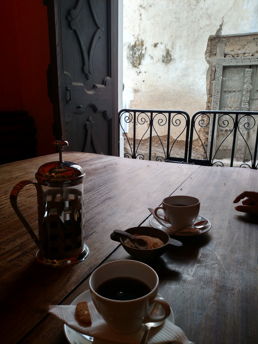 Coffee in Zanzibar's old town