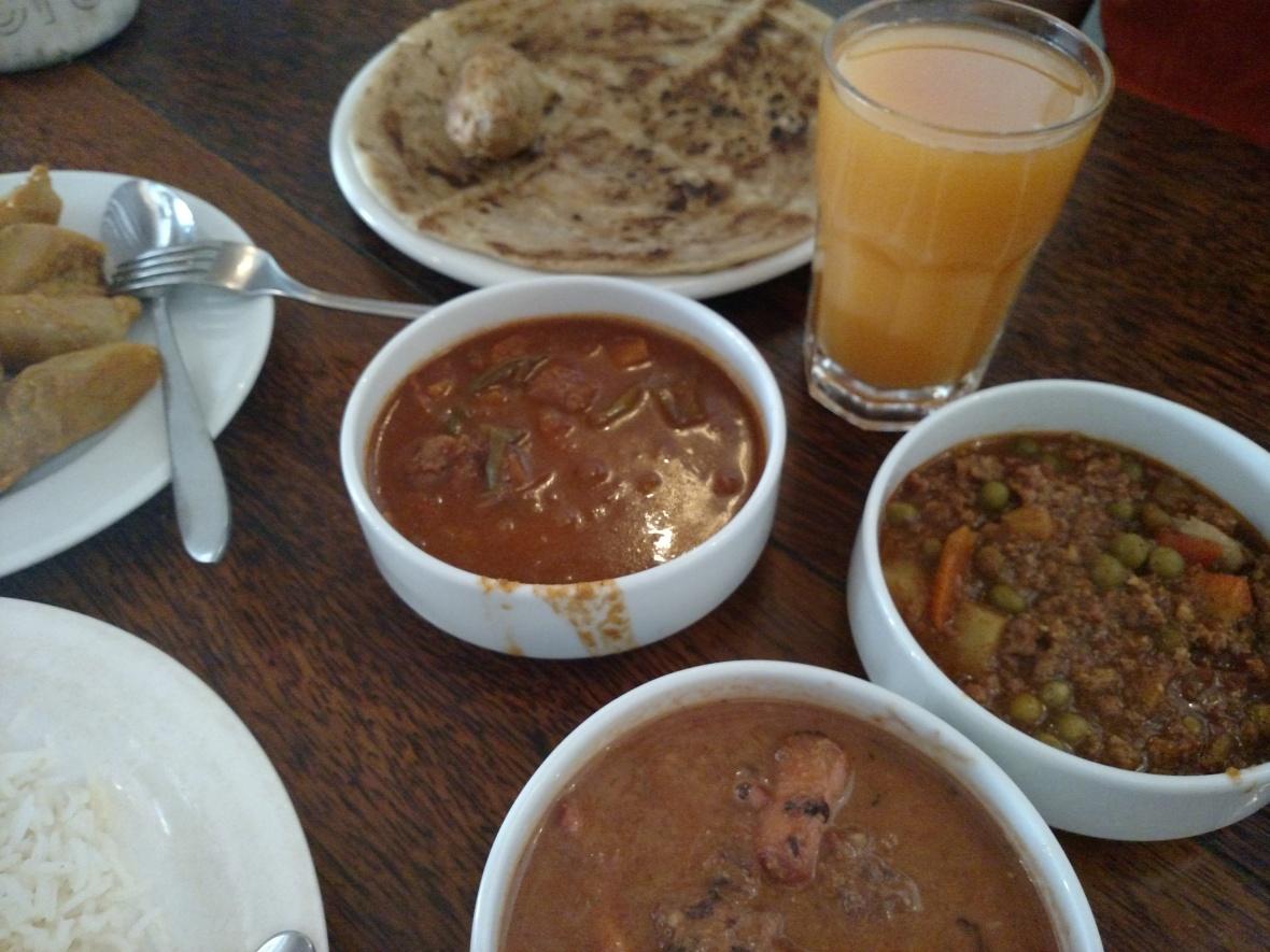 Traditional meal in Zanzibar, Tanzania