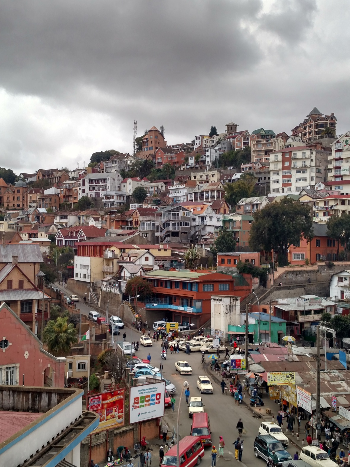 Charming streets of Antananarivo, Madagascar